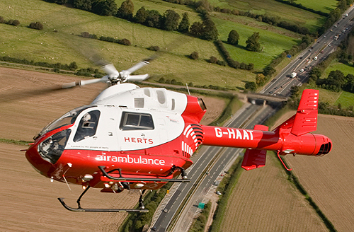 Herts Air Ambulance Helicopter Image